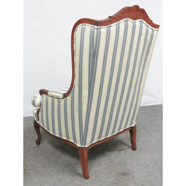 Louis XV Style Walnut Wing Chair For Sale - Image 4 of 8