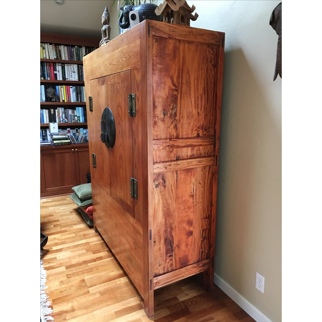 Antique Chinese Ming Style Media Cabinet - Image 3 of 4