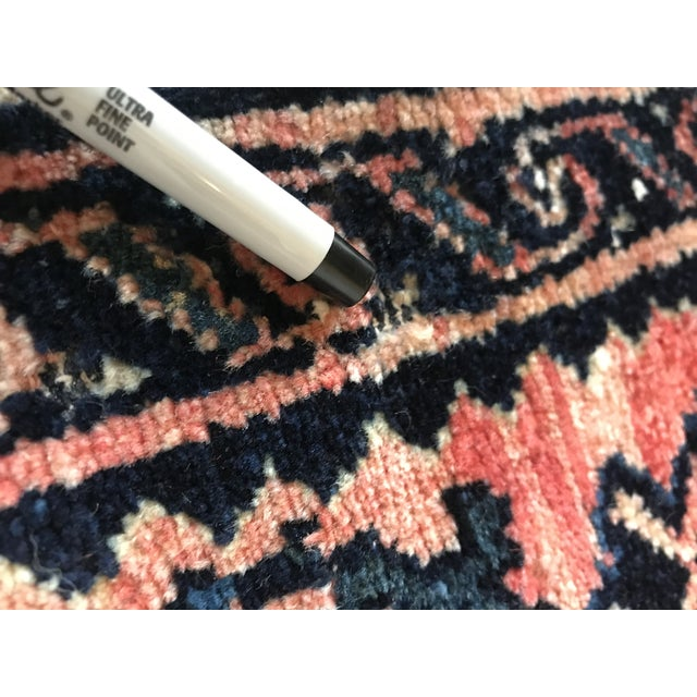 Blue Blush and Navy Persian Rug For Sale - Image 8 of 10