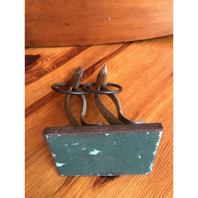 Gray French Folk Art Dancing Pliers Sculpture For Sale - Image 8 of 11