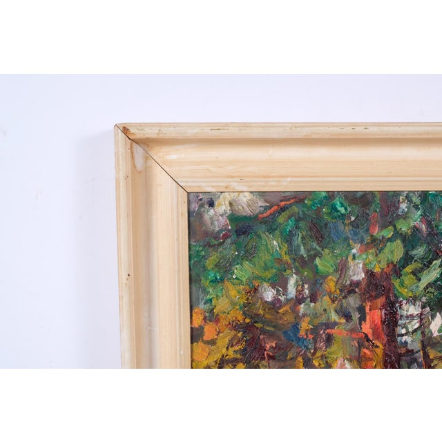 Expressionist Forest Lined Path by Finn Andersen For Sale - Image 4 of 8