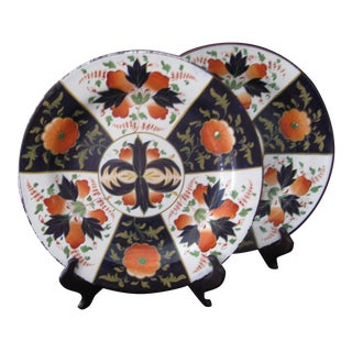19th Century Brameld Rockingham Dinner Plates - a Pair For Sale