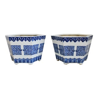 Chinese Porcelain Jardinieres - a Pair For Sale