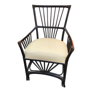 Modern Palecek Wicker Rattan Chair For Sale