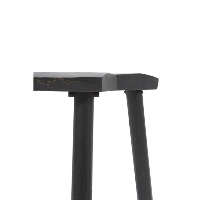 Americana Hand Hewn Contemporary Ash Milking Stool by Woodworker Danny Rosa For Sale - Image 3 of 5