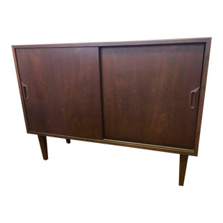 Niels Moller Credenza Mobelfabrik Cabinet Bar Server Small Buffet 1961 Dark Teak For Sale