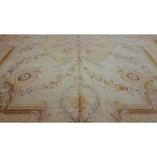 14'x19' Aubusson Design Hand Made Knotted Rug - Size Cat. 12x18 13x20 - Image 10 of 12