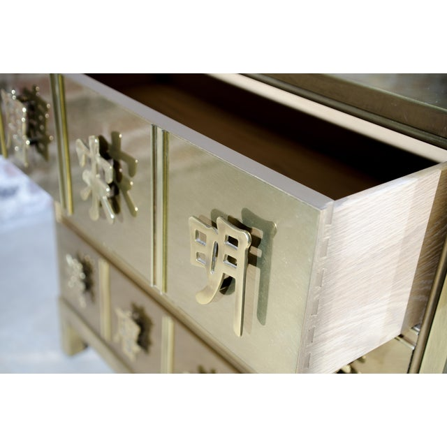Mastercraft Chinese Brass Chest of Drawers For Sale In Chicago - Image 6 of 8