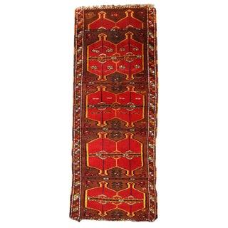 Antique Turkish Yastik Rug- 2′6″ × 6′2″ For Sale