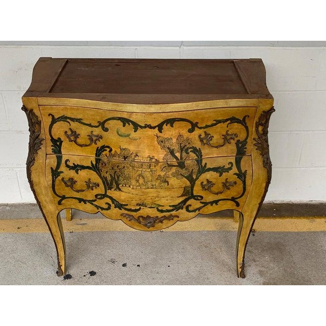 Early 20th Century Fine Italian Piranesi Topographical Polychromed Marble Top Commode For Sale - Image 5 of 13