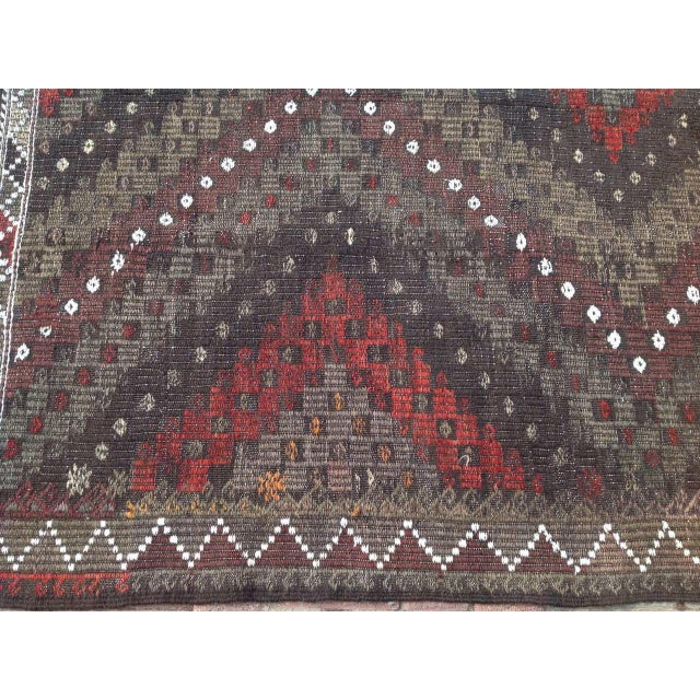 Vintage Turkish Kilim Rug - 5′7″ × 7′2″ - Image 5 of 7