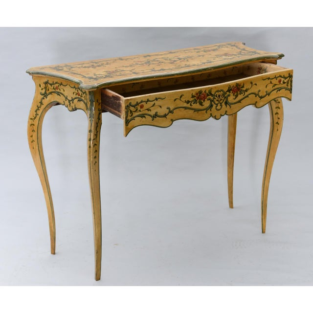 Hand Painted 19th Century Console Table For Sale In West Palm - Image 6 of 11