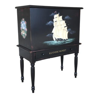 New England Style Ebonized Sugar Chest