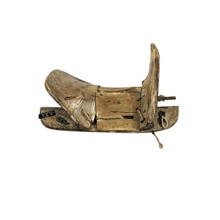 19th Century Tibetan Wooden Horse Saddle For Sale