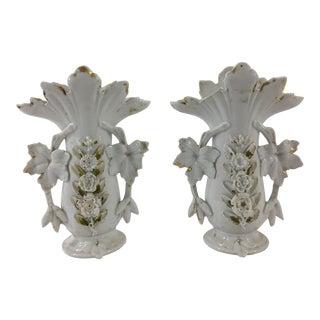Old Paris Vases - a Pair For Sale