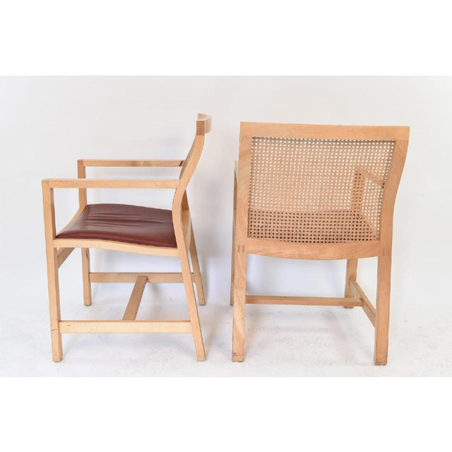 """Rud Thygesen and Johnny Sarenson for Botium Chairs - A Pair Part of the """"King Series"""" (Kongeserien""""). Made of maple,..."""