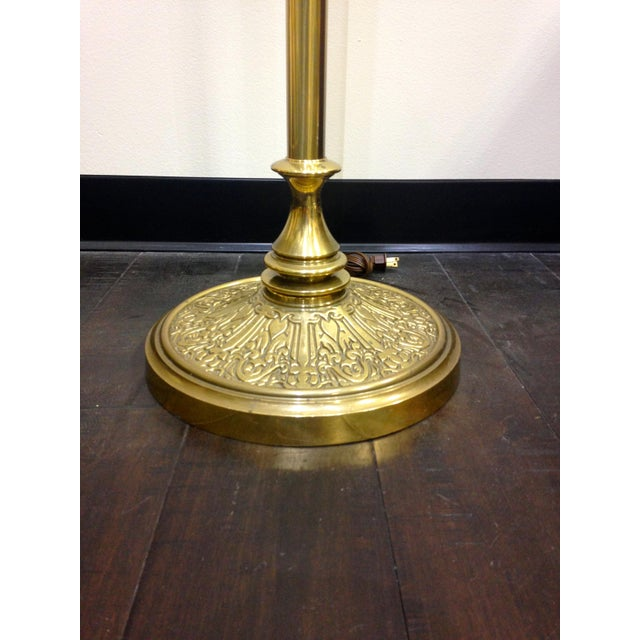 Mid 20th Century Brass Stiffel Torchiere Floor Lamp For Sale - Image 5 of 10