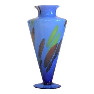 Ca. 1920 Art Deco Cobalt Vase For Sale