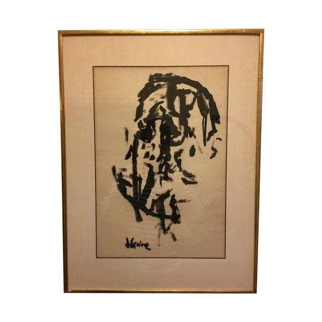 Jack Levine Cubist Ink Painting - Image 1 of 5