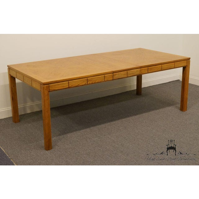 "Country Thomasville Furniture New Country Collection 84"" Dining Table For Sale - Image 3 of 13"