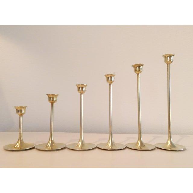 Slender Brass Candlesticks - Set of 6 - Image 5 of 8