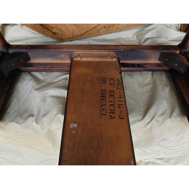 """1980s Hollywood Regency Drexel """"Et Cetera"""" Game Table Leather Top Game Table For Sale - Image 10 of 11"""
