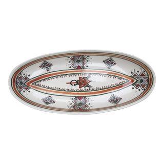 Oval Tunisian Ceramic Serving Dish
