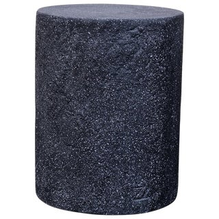 Cast Resin 'Dock' Stool & Side Table in Coal Stone Finish by Zachary A. Design For Sale