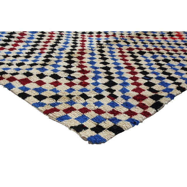 Boho Chic Hand Knotted Moroccan Rug - 7'8 X 3'8'' For Sale - Image 3 of 4