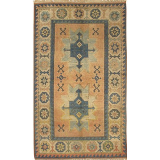 "Pasargad N Y Kazak Design Hand-Knotted Area Rug - 4'2"" X 6'6"" For Sale"