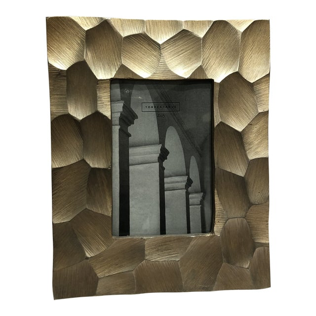 Brushed Gold 4x6 Picture Frame For Sale
