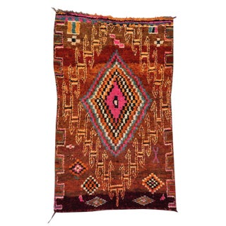 Vintage Berber Moroccan Rug With Tribal Style - 5′8″ × 9′1″ For Sale