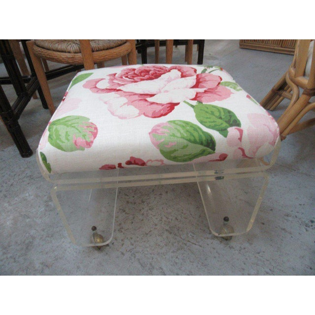 Pagoda Lucite Bench Stool - Image 6 of 6