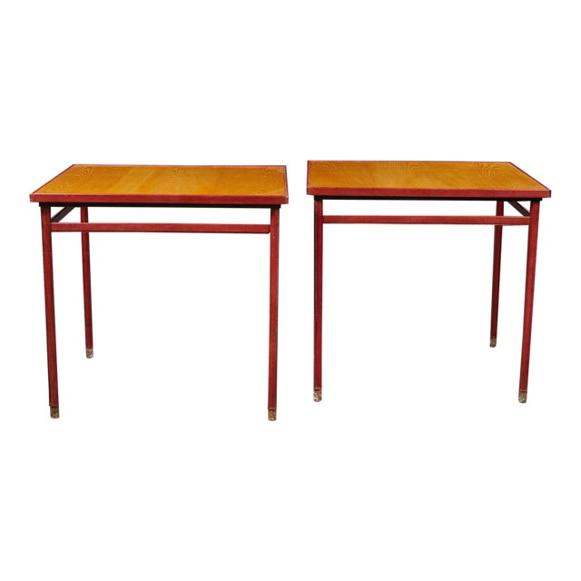 Jacques Adnet (1900-1984) - Pair of Tables - Circa 1950. For Sale