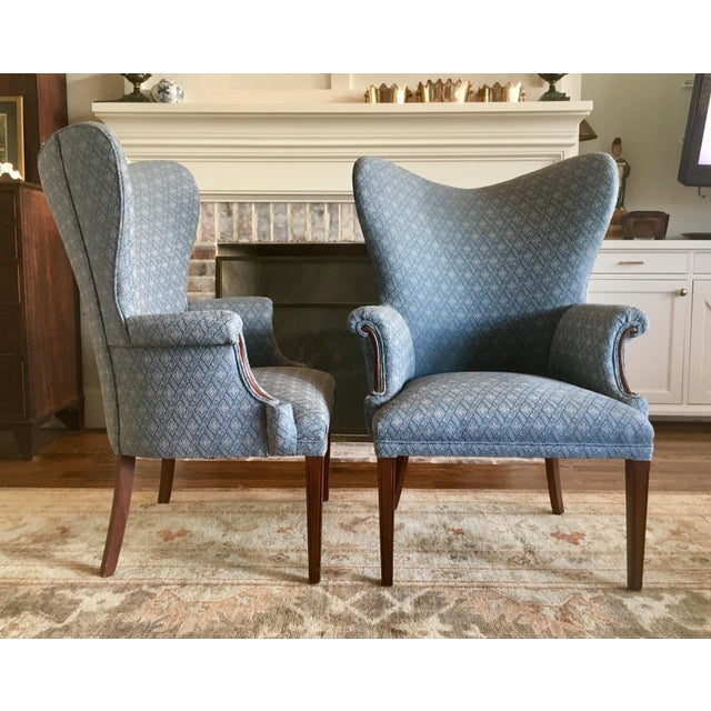 Vintage Mid Century Butterfly Wingback Chairs - a Pair For Sale - Image 4 of 7