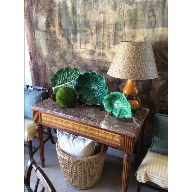Vintage Portugese Green Lettuce Bowl For Sale - Image 9 of 9