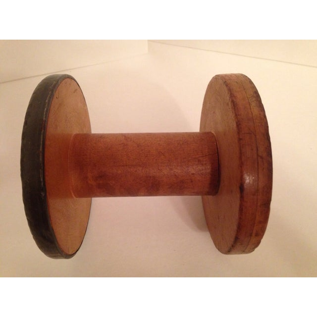 Vintage Vermont 1940 Industrial Wooden Spool - Image 3 of 6