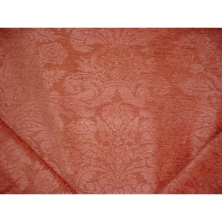 Brunschwig Et Fils Br-89430 Barnstable Chenille Salmon Upholstery Fabric - 8y For Sale