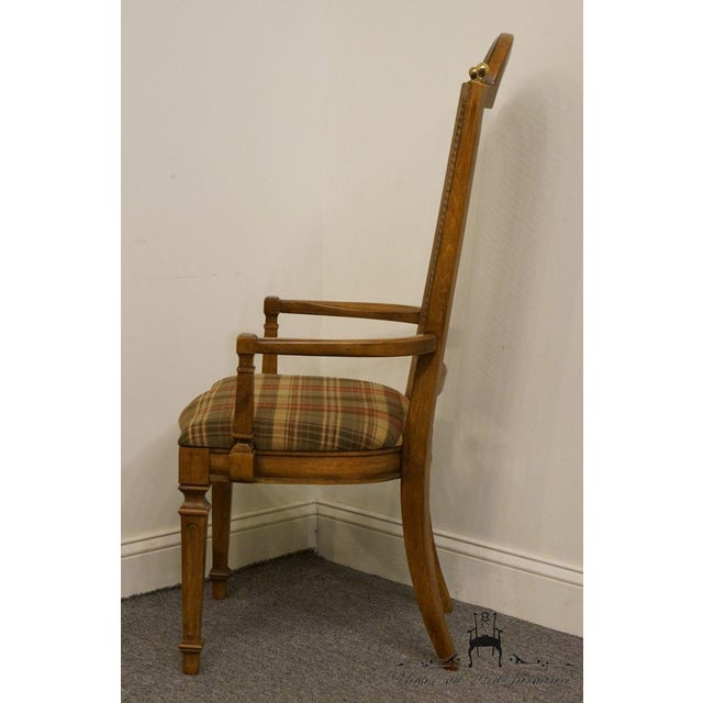 Late 20th Century Vintage Thomasville Furniture Cellini Collection Cane Back Dining Arm Chair For Sale - Image 10 of 13
