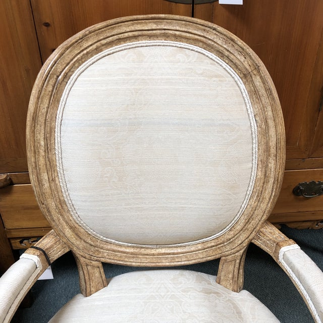 White New Ovale Arm Chair by Hamilton Collection For Sale - Image 8 of 13