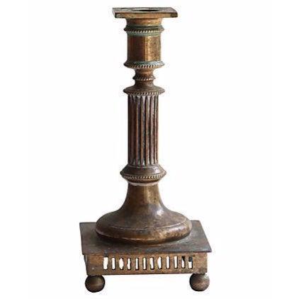 Brass Classical Column Candlestick - Image 1 of 2