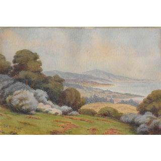 1925 California Landscape Painting Harnett For Sale