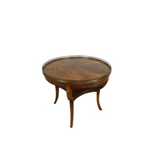 Henredon Regency Style Flame Mahogany Round Center Lamp Table For Sale