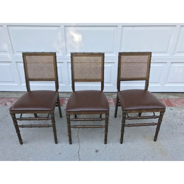 Vintage Bamboo Folding Chairs - Set of 3 - Image 6 of 6