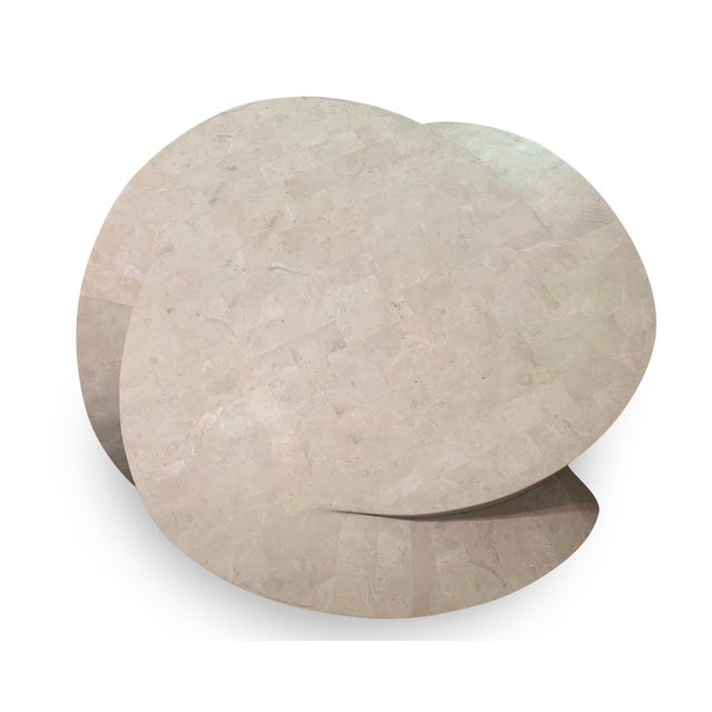 Vintage sculptural tessellated marble coffee table. We love the stunning elegance and curvaceous lines of this tessellated...