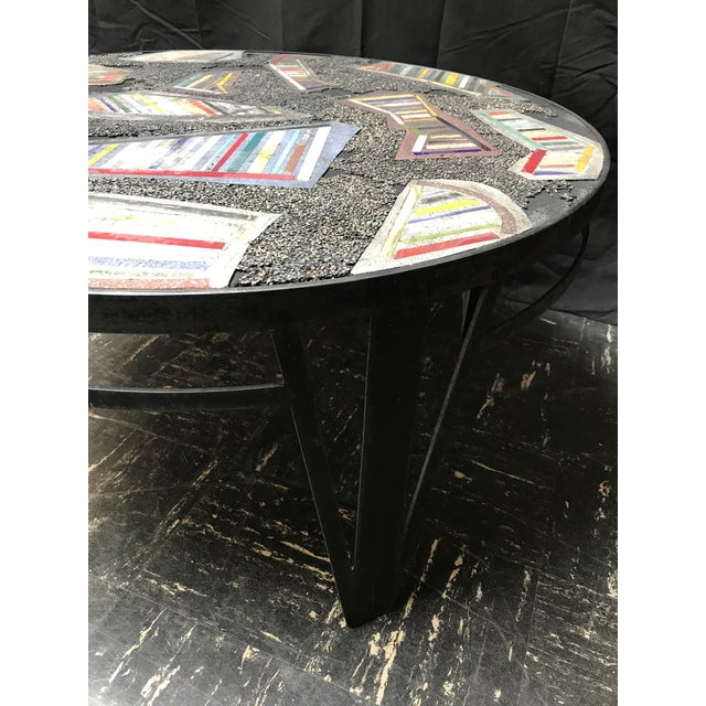 Handmade Steel and Concrete Table - Image 10 of 13
