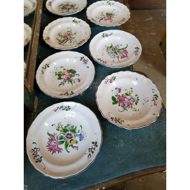 French French Faience Bowls Set of Eight For Sale - Image 3 of 8