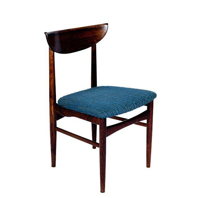 Set Of 4 Rosewood Dining Chairs For Sale - Image 4 of 9
