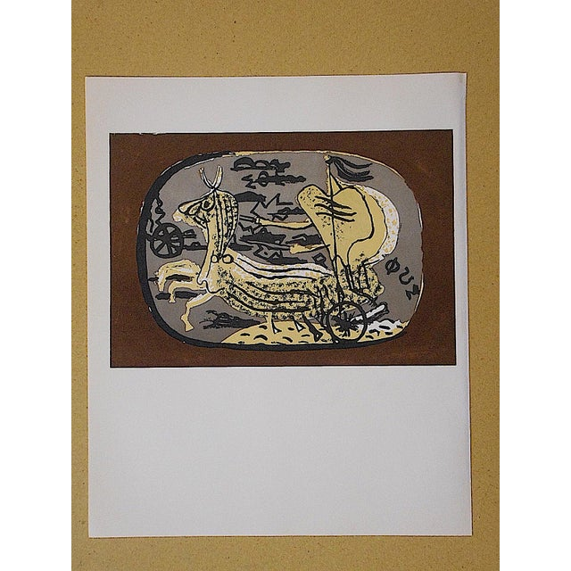 Vintage Equine Lithograph by Georges Braque - Image 2 of 3