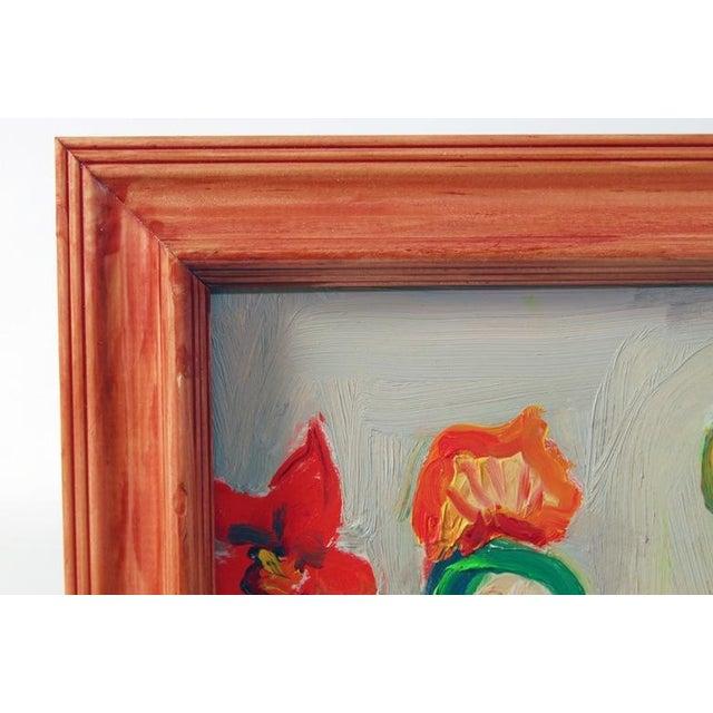 Original Vintage 70's Cubist Portrait Painting - Image 4 of 6